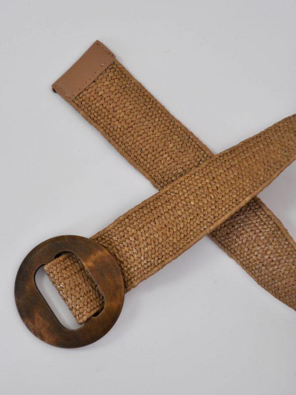 cinturón yute trenzado